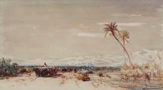Beyrouth, les deux palmiers (Ziem Félix) - Muzeo.com