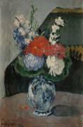 Bouquet au petit Delft (Cézanne Paul) - Muzeo.com