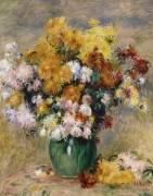 Bouquet de chrysanthèmes dans un vase (Renoir Auguste) - Muzeo.com