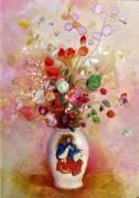 Bouquet de Fleurs dans un Vase Japonais (Odilon Redon) - Muzeo.com