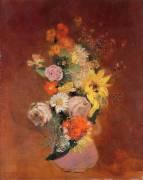 Bouquet de Fleurs dans une Cruche (Odilon Redon) - Muzeo.com