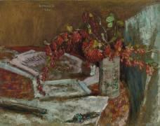 Bouquet de fleurs sur une table (Pierre Bonnard) - Muzeo.com