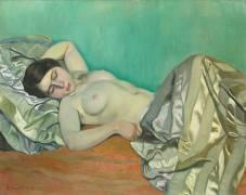 Buste de femme allongée (Félix Vallotton) - Muzeo.com