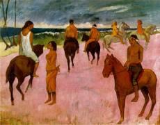 Cavaliers sur la plage (Paul Gauguin) - Muzeo.com