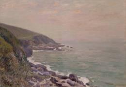 Côtes du Pays de Galles dans la brume (Alfred Sisley) - Muzeo.com