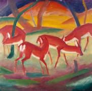 Cerfs rouges 1 (Marc Franz) - Muzeo.com