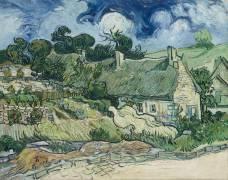 Chaumes de Cordeville à Auvers-sur-Oise (Vincent van Gogh) - Muzeo.com