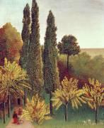 Chemin au Parc des Buttes-Chaumont, Paris (Henri Rousseau) - Muzeo.com