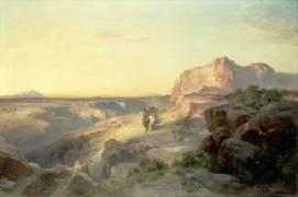 Chemin de pierres rouges, Sud de l'Utah (Thomas Moran) - Muzeo.com
