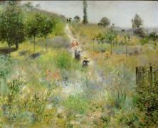 Chemin montant dans les hautes herbes (Auguste Renoir) - Muzeo.com
