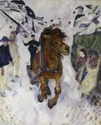 Cheval au galop (Munch Edvard) - Muzeo.com