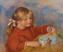 Claude Renoir jouant (Auguste Renoir) - Muzeo.com