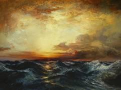 Coucher de soleil sur le Pacifique (Thomas Moran) - Muzeo.com