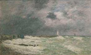 Coup de vent devant Frascati (Havre) (Boudin Louis-Eugène) - Muzeo.com