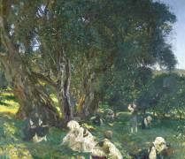 Cueilleurs d'Olives Albanais (John Singer Sargent) - Muzeo.com