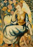 Dame avec un Singe (Roger Fry) - Muzeo.com