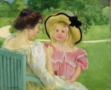 Dans le Jardin (Mary Cassatt) - Muzeo.com
