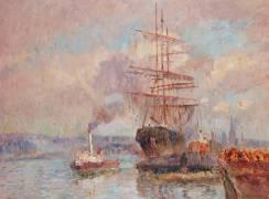 Dans le port de Rouen (Lebourg Albert) - Muzeo.com