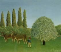 Dans les Champs (Henri Rousseau) - Muzeo.com