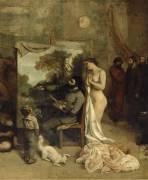 Détail de L'Atelier du peintre. (Courbet Gustave) - Muzeo.com