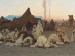 Détail de Prière du soir dans le Sahara (Gustave Guillaumet) - Muzeo.com