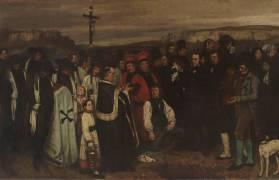 Détail d'un enterrement à Ornans (Gustave Courbet) - Muzeo.com