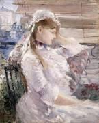 Derrière la Jalousie (Berthe Morisot) - Muzeo.com