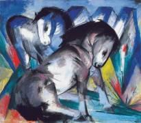 Deux chevaux (Marc Franz) - Muzeo.com