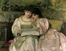 Deux jeunes filles chantant (Giovanni Costa) - Muzeo.com