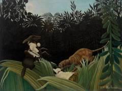 Eclaireurs attaqués par un Tigre (Henri Rousseau) - Muzeo.com