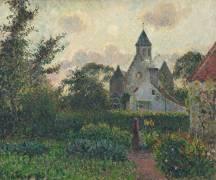 Eglise de Knocke (Belgique) (Camille Pissarro) - Muzeo.com