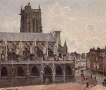Eglise Saint-Jacques à Dieppe (Camille Pissarro) - Muzeo.com