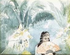 Espagnole cachée par un évantail (Winslow Homer) - Muzeo.com