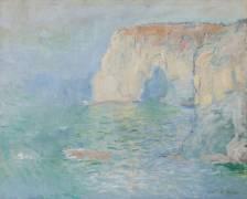 Etretat, la Manneporte, reflets sur l'eau (Claude Monet) - Muzeo.com