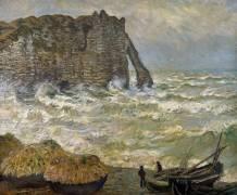Etretat, mer agitée (Claude Monet) - Muzeo.com