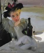 Femme au café (Zorn Anders Leonard) - Muzeo.com
