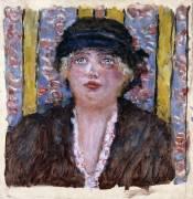 Femme au chapeau (Pierre Bonnard) - Muzeo.com