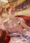 Femme au Collier de Perles dans une Loge (Mary Cassatt) - Muzeo.com