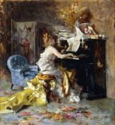 Femme au piano (Giovanni Boldini) - Muzeo.com