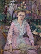 Femme avec un Parapluie (Henri de Toulouse-Lautrec) - Muzeo.com