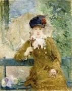 Femme avec un Parapluie (Berthe Morisot) - Muzeo.com