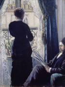 Femme à la Fenêtre : Vue d'Intérieur (Gustave Caillebotte) - Muzeo.com