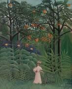 Femme marchant dans une Forêt Exotique (Henri Rousseau) - Muzeo.com