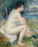 Femme nue dans un paysage (Auguste Renoir) - Muzeo.com