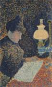 Femme sous la lampe (Signac Paul) - Muzeo.com