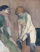 Femme tirant son bas ou Femme de maison (Toulouse-Lautrec Henri de) - Muzeo.com