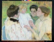 Femmes admirant un Enfant (Mary Cassatt) - Muzeo.com
