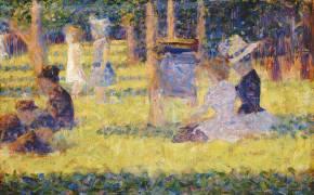 Femmes assises et voiture d'enfant (Georges Seurat) - Muzeo.com