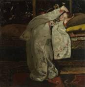 Fille dans un Kimono Blanc (George Hendrik Breitner) - Muzeo.com