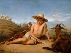 Giotto gardant les chèvres (Léon Bonnat) - Muzeo.com